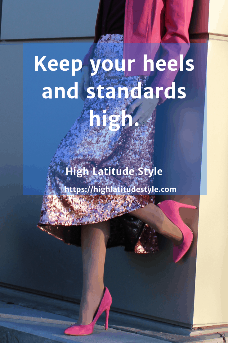 high heels and standards