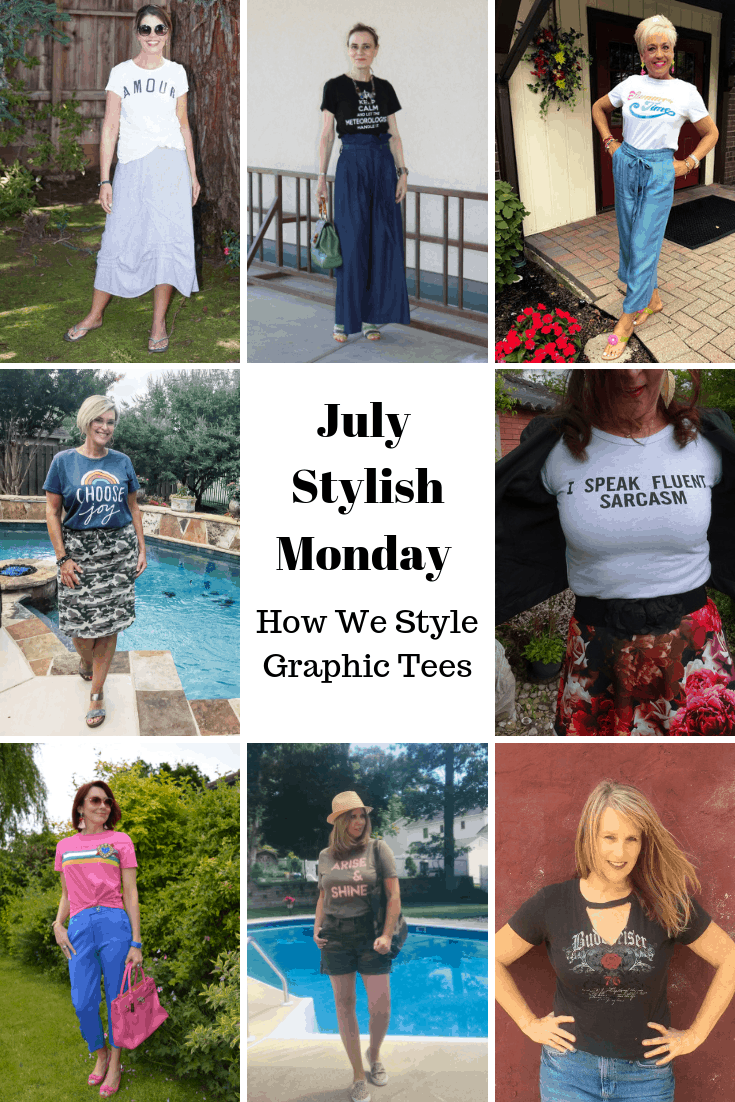 July Stylish Monday blogger group: How we style graphic Tees