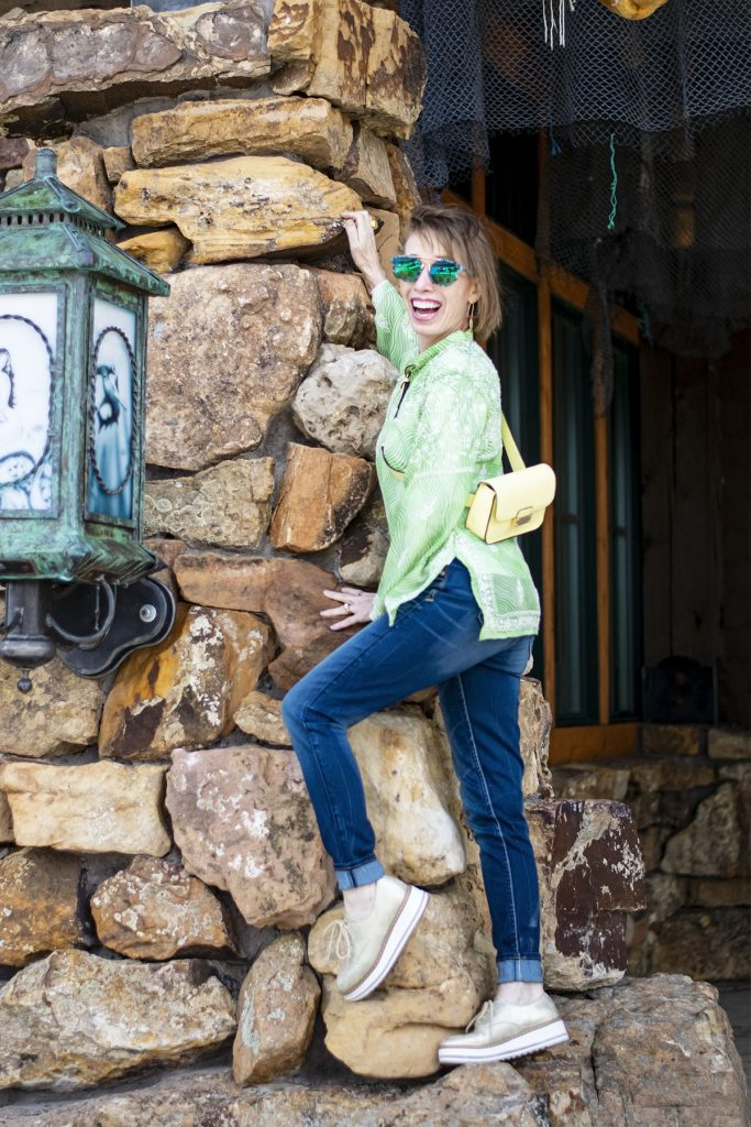 Top of the World OOTD Readers' Fav Jodie in lime green top and jeans