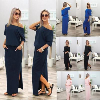 Leila vegan woman off the shoulder sleek long casual gown