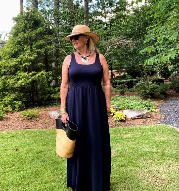 Robin LaMonte in maxi dress