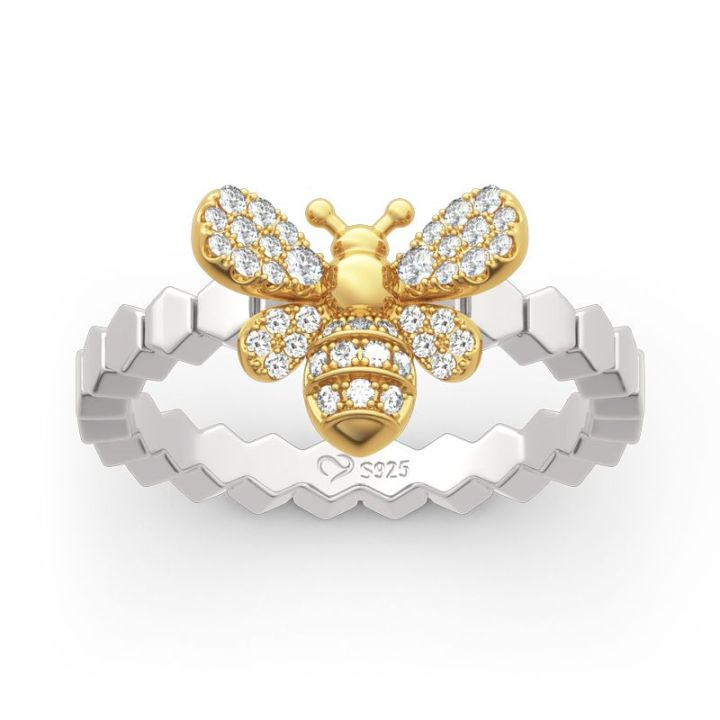Jeulia bee design ring as a back to school gift
