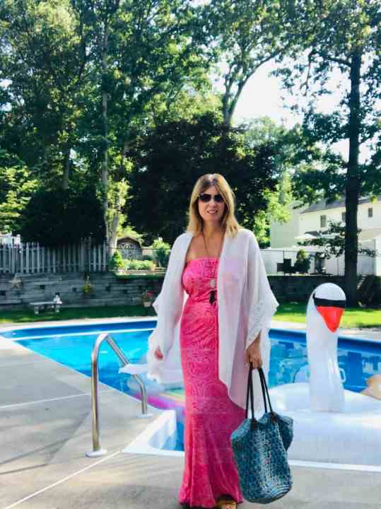 pool dress with coverup