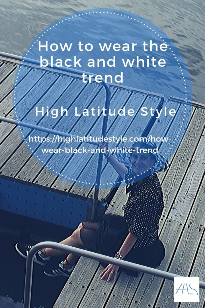 How to wear the black and white trend post flyer