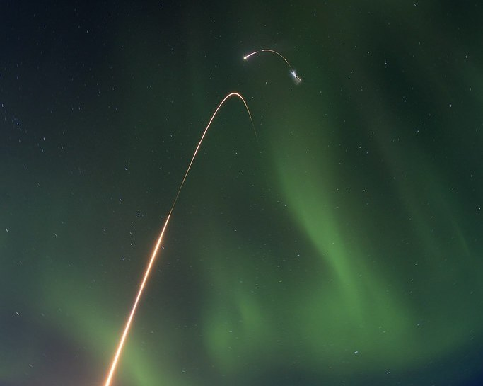 """Alaskan Sounding Rocket Launch"" by sjrankin is licensed under CC BY-NC 2.0"