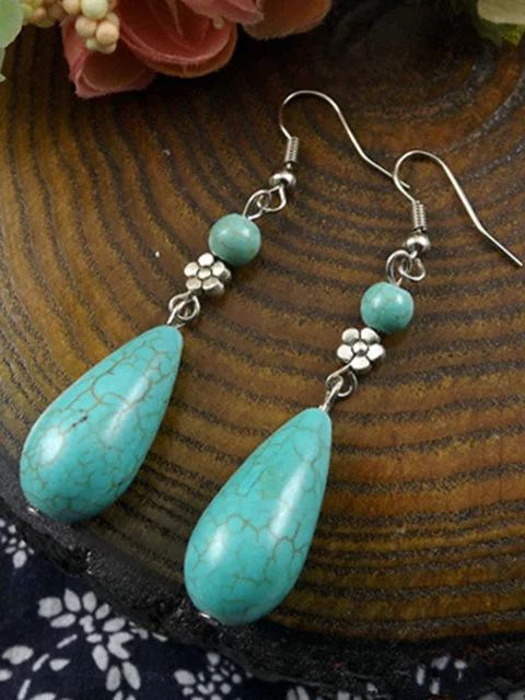 Just Fashion Now womens turquoise drop earrings