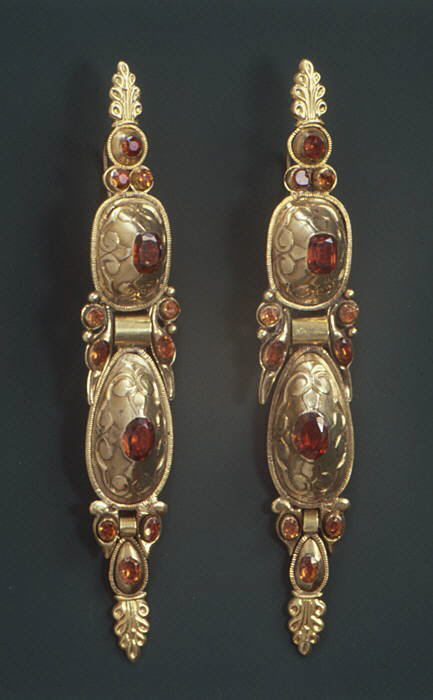 Spanish pair of earrings 18th century