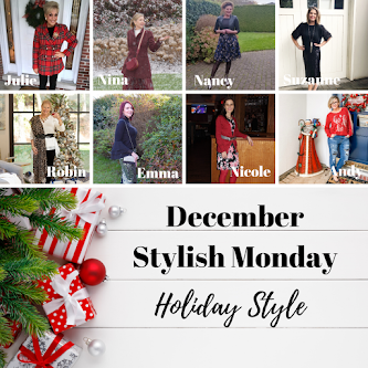 December Stylish Monday holiday style post banner collage
