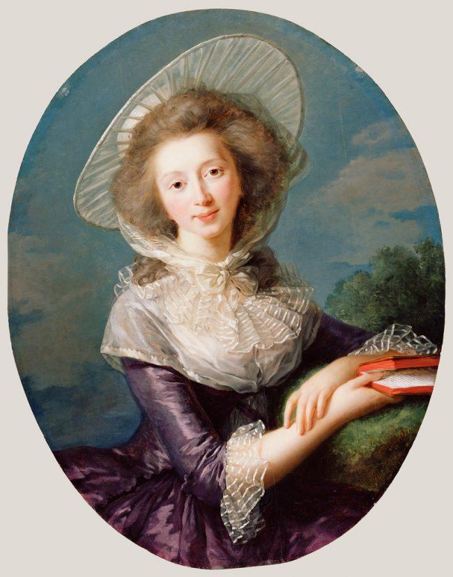 Élisabeth Louise Vigée Le Brun painting with wide brim
