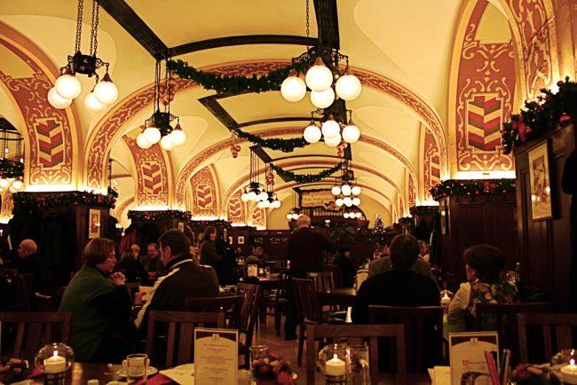 cozy atmosphere in a German restaurant