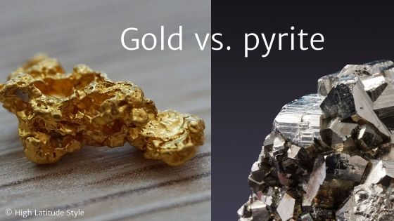 photo of gold and pyrite