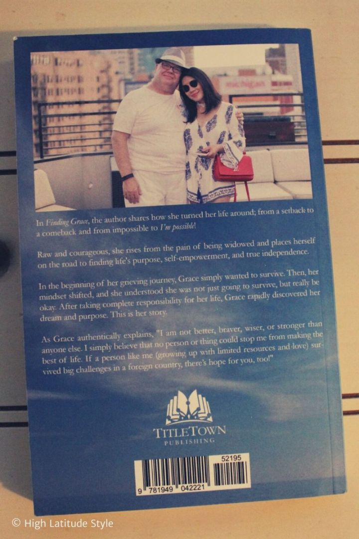 Back cover featuring the author and her husband in the Good Old Days