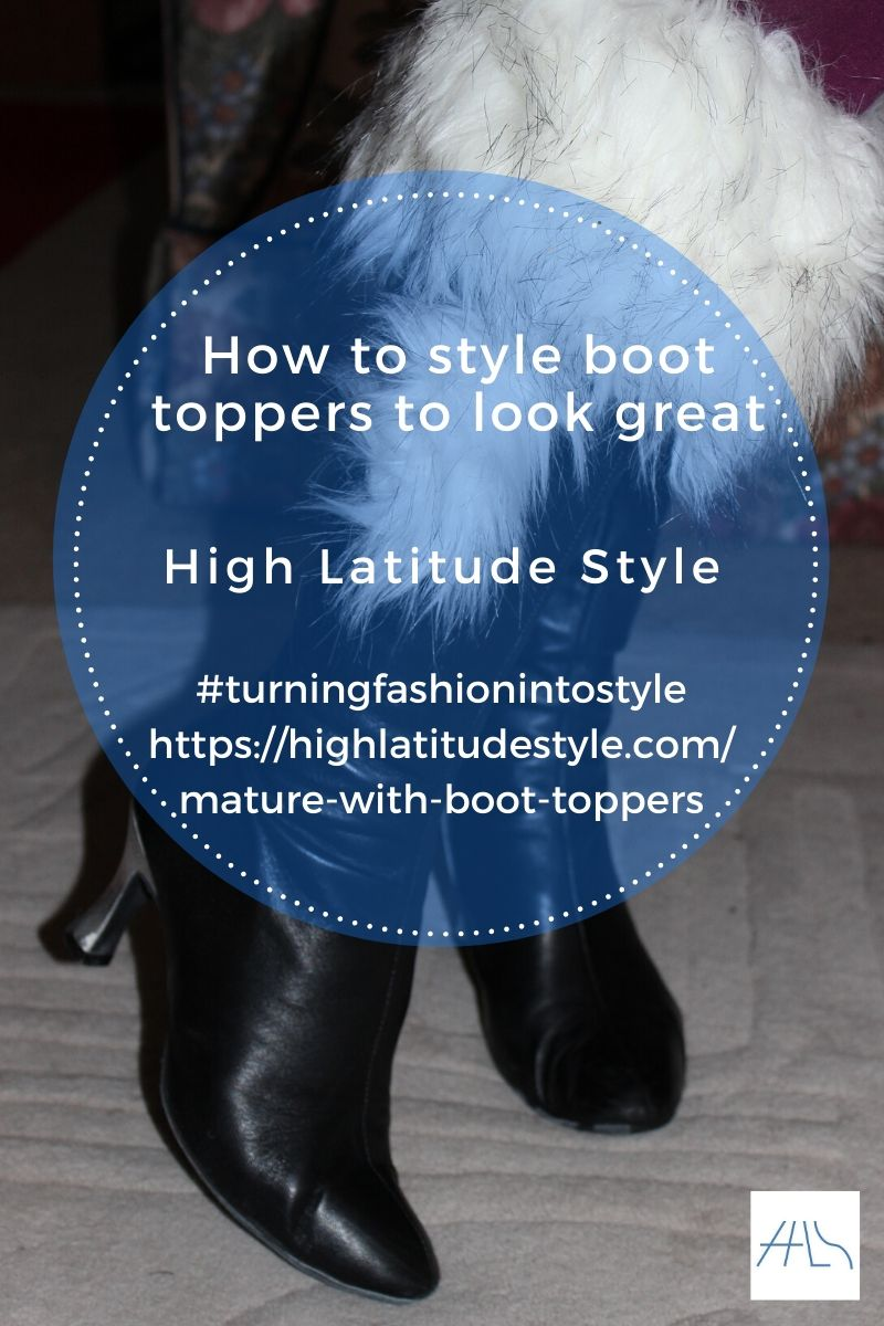 post logo showing silver heeled boots with faux fur toppers and pom poms
