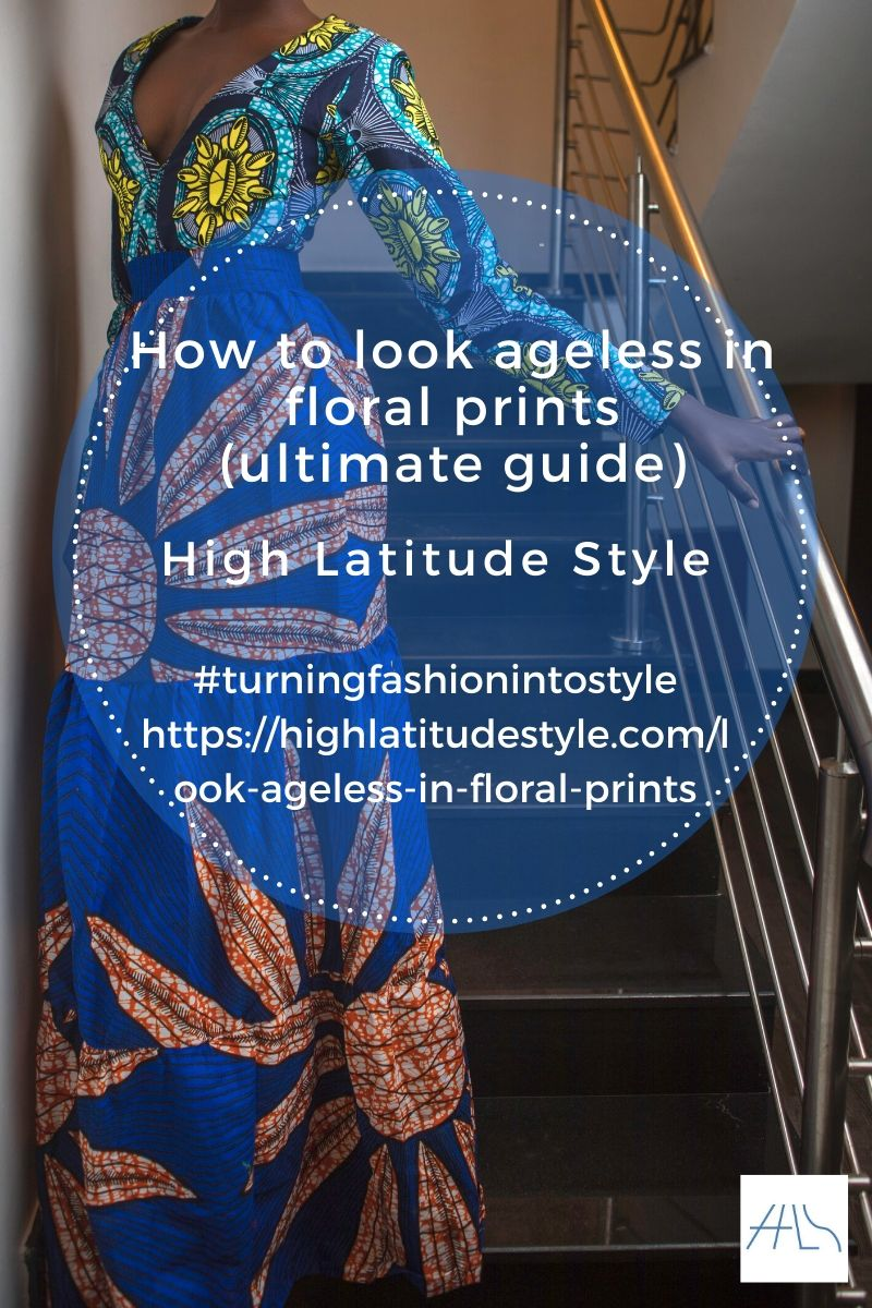 post logo how to wear floral prints showing woman in a hand-baticed maxi dress