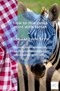 How I mix my zebra print with tartan