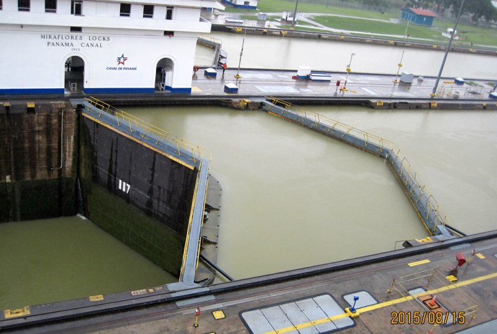 Panama Canal - difference in water levels by az3