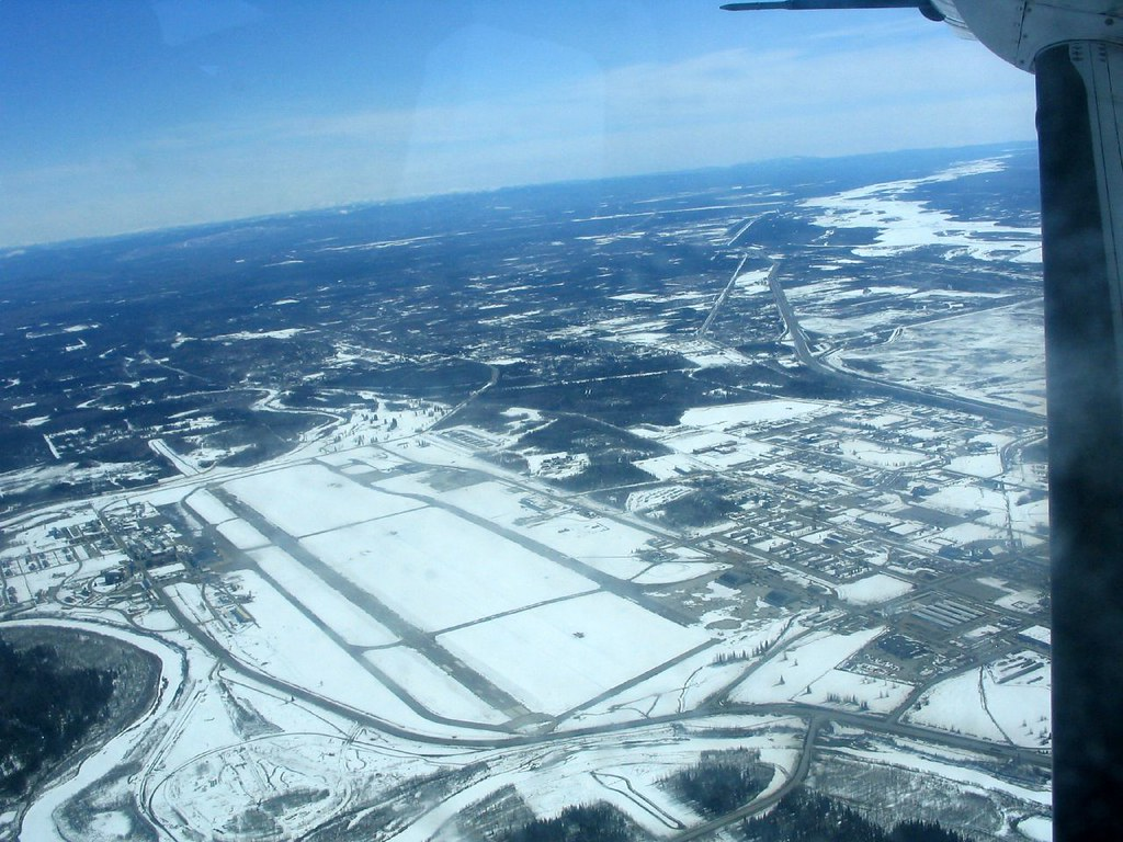 Fairbanks metropolitan area from the air