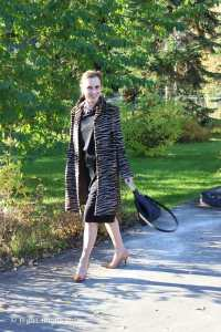 See how to style an animal print coat