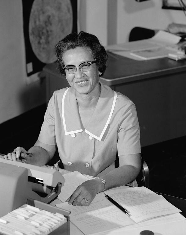 Katherine Johnson in 1966. NASA; restored by Adam Cuerden