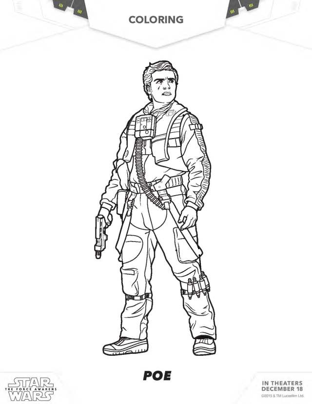 Star Wars coloring pages, The force awakens coloring pages