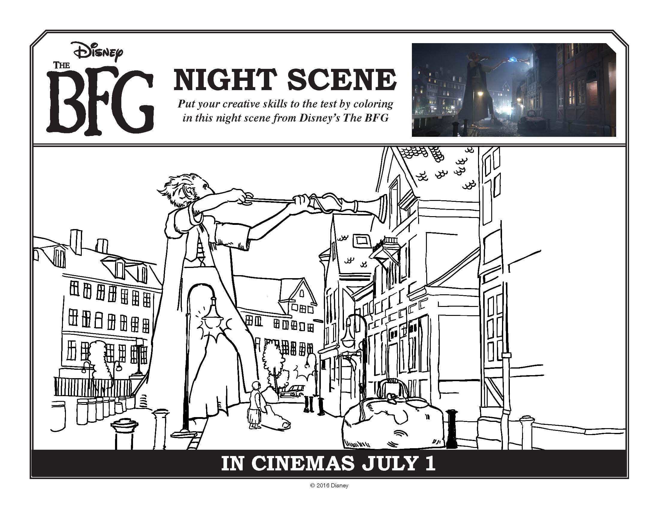 The Bfg Coloring Pages And Free Printables