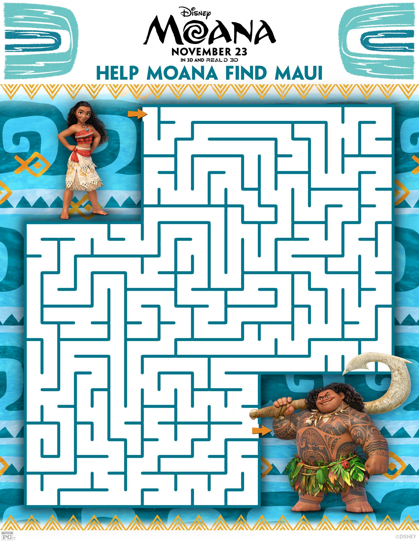Moana Printable Activity Sheets Kakamora Dot To Dots And Crafts