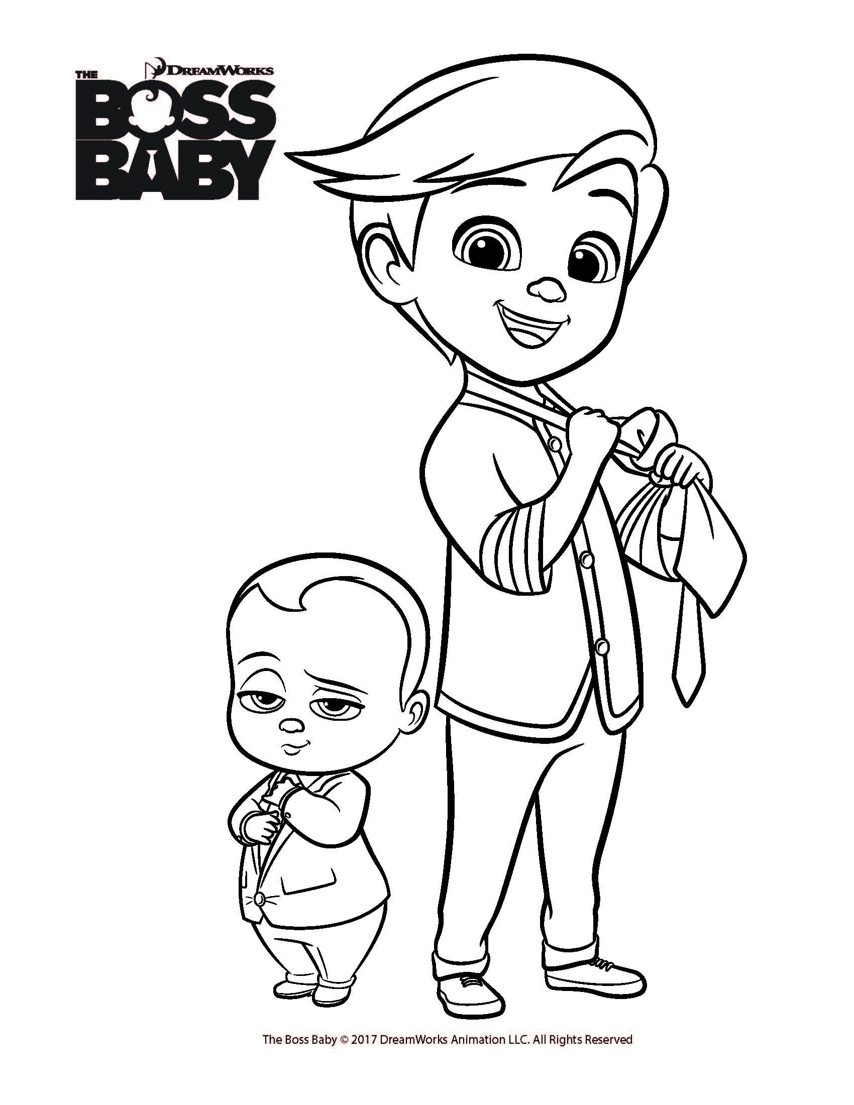 Free Coloring Printables For The Boss Baby From Dreamworks