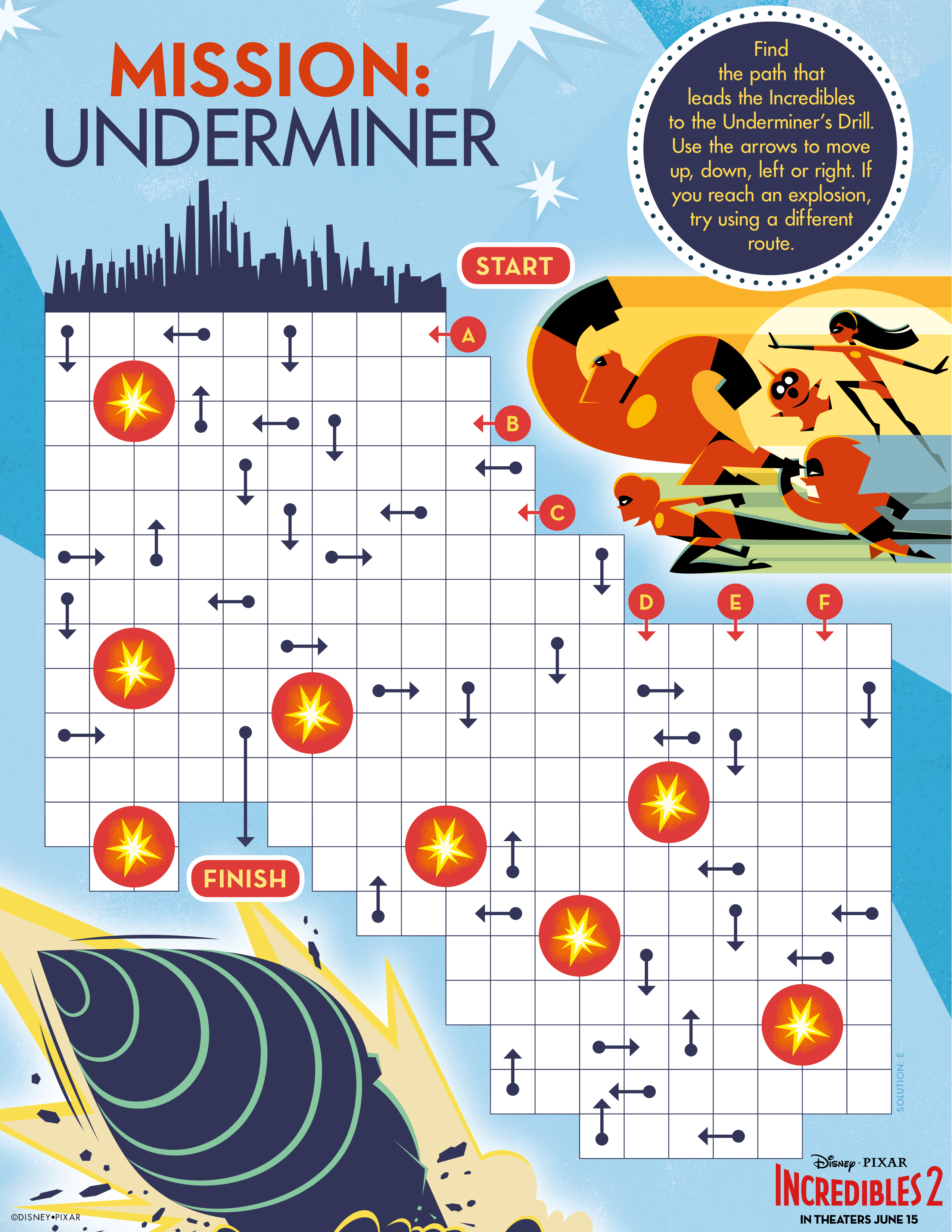 Incredibles 2 Coloring And Printable Activity Sheets Free