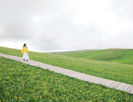 a highly sensitive person walking on a path