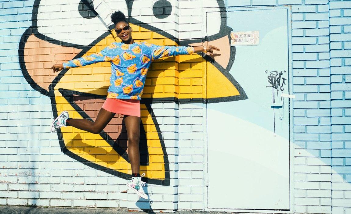 A highly sensitive person jumps like a superhero