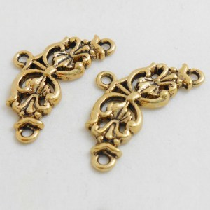 2-to-1-fancy-end-connector-antique-gold-finish