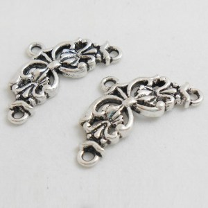 2-to-1-fancy-end-connector-antique-silver-finish