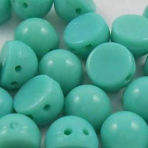 czechmates-2-hole-cabochon-beads-opaque-turquoise