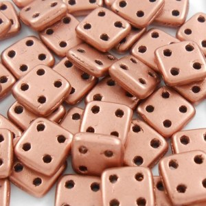 czechmates-4-hole-quadratile-beads-metallic-bronze-copper