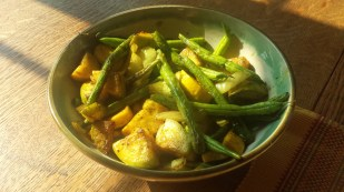 Green beans and summer squash