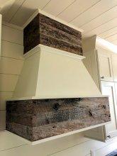 Custom range hood using reclaimed wood by High Mountain Millwork - Franklin, NC