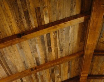 Custom Reclaimed Wood Ceiling by High Mountain Millwork Company - Franklin, NC