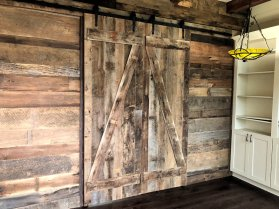 Interior sliding doors of reclaimed wood by High Mountain Millwork - Franklin, NC - #1