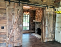 Interior sliding doors of reclaimed wood by High Mountain Millwork - Franklin, NC - #2