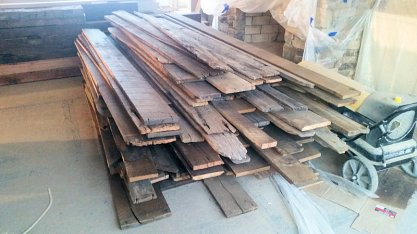Custom Reclaimed Wood Floors by High Mountain Millwork Company - Franklin, NC #223
