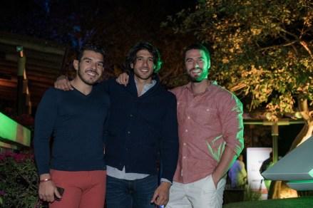 Juan Carlos Mendoza, Gabriel Rojo de la Vega y Fernando Lozada