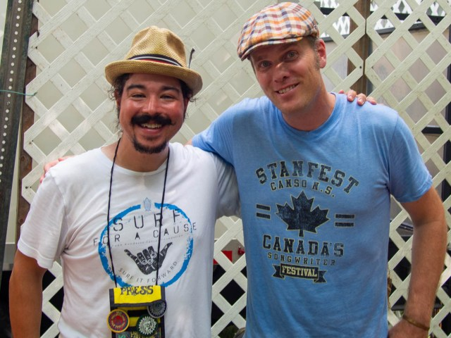 Shaun Smith and singer-songwriter Dave Gunning talk after The High Note Podcast Sunday, Aug. 18, 2019 58th annual Philadelphia Folk Festival