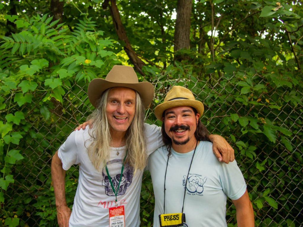 Steve Poltz and Shaun Smith at the 58th annual Philadelphia Folk Festival Saturday, Aug. 17, 2019.