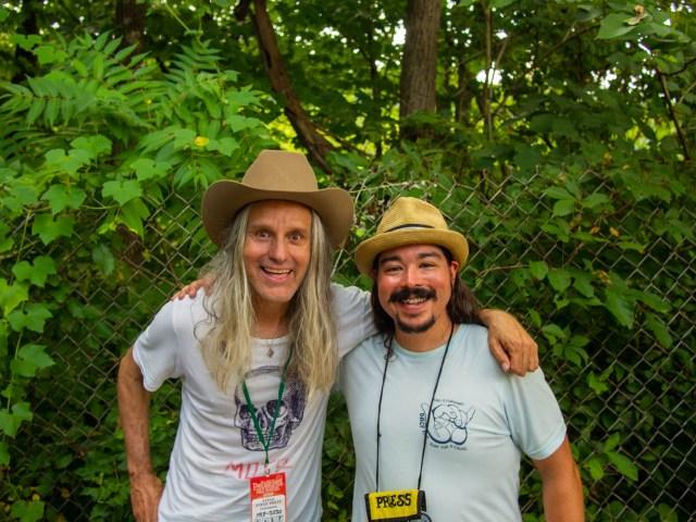 Steve Poltz and Shaun Smith at the 58th annual Philadelphia Folk Festival Saturday, Aug. 17, 2019.