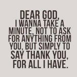 Thanks GOD!