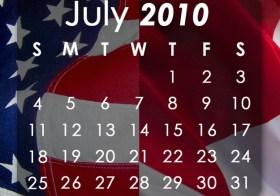 July Youth Calendar