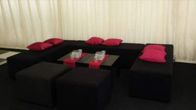 Set of Banquette Sofas Cubes and Table_800