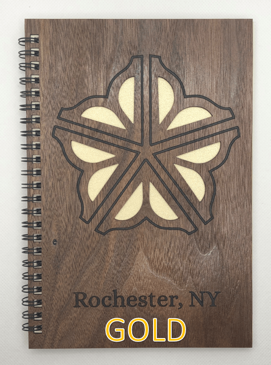 Gold Wood Covered Notebook Design