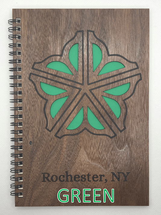 Green Wood Covered Notebook Design