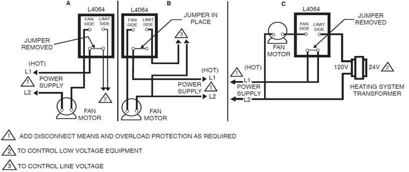 fan limit switch wiring